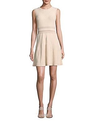 dd4e0021059b Shoshanna - MIDNIGHT Coraline Metallic Striped Jacquard Dress ...