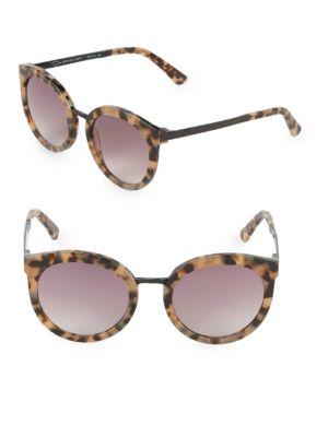 O BY OSCAR DE LA RENTA 52Mm Cat Eye Sunglasses in Milky Brown