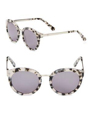 O BY OSCAR DE LA RENTA 52Mm Cat Eye Sunglasses in Smoke Demi