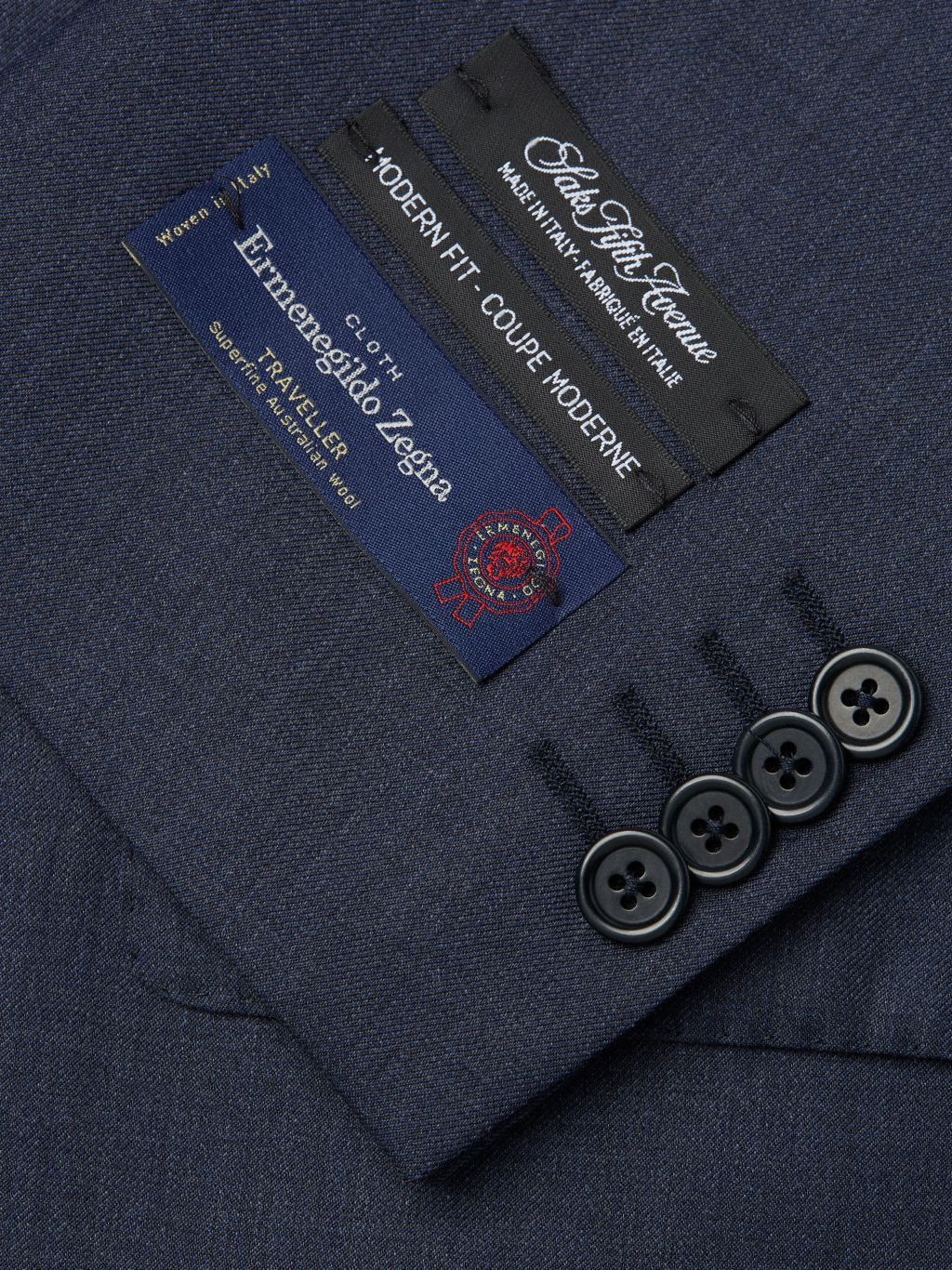 Saks Fifth Avenue Made in Italy Modern-Fit Wool Suit
