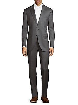 Windowpane Wool Suit