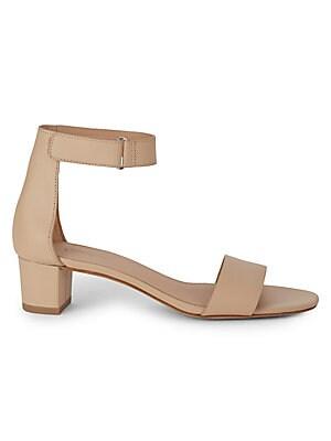 d130ab17540 Vince - Rita Leather Ankle Strap Sandals - saksoff5th.com