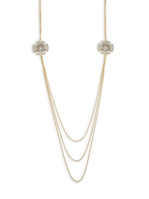 Freida Rothman  Classic Cubic Zirconia & 14K Gold-Plated Sterling Silver Necklace