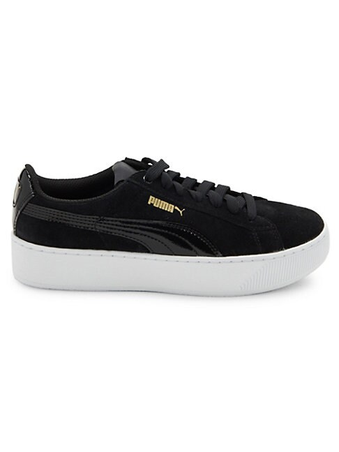 Puma Suedes LOGO-EMBOSSED LACE-UP SNEAKERS