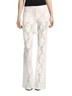 WINSTON WHITE Rosanna Lace Bootcut Pants in White