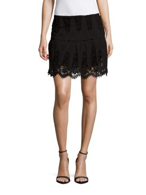 WINSTON WHITE Gigi Scalloped Skirt in Black