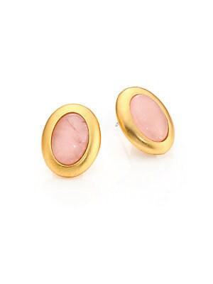 Rose Quartz Stud Earrings