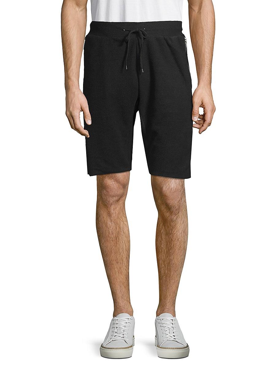 Men's Textured Drawstring Shorts