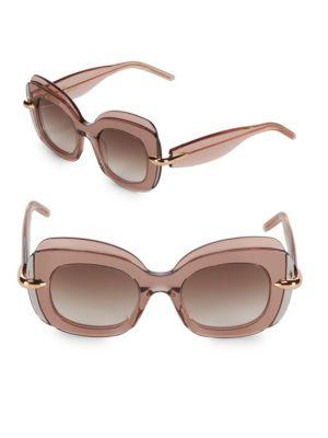 Pomellato 49MM Layered Butterfly Sunglasses
