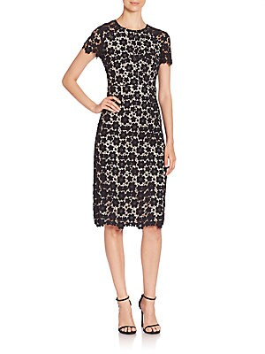 14faa3a63b6 Shoshanna - Beaux Guipure Lace Sheath Dress - saksoff5th.com