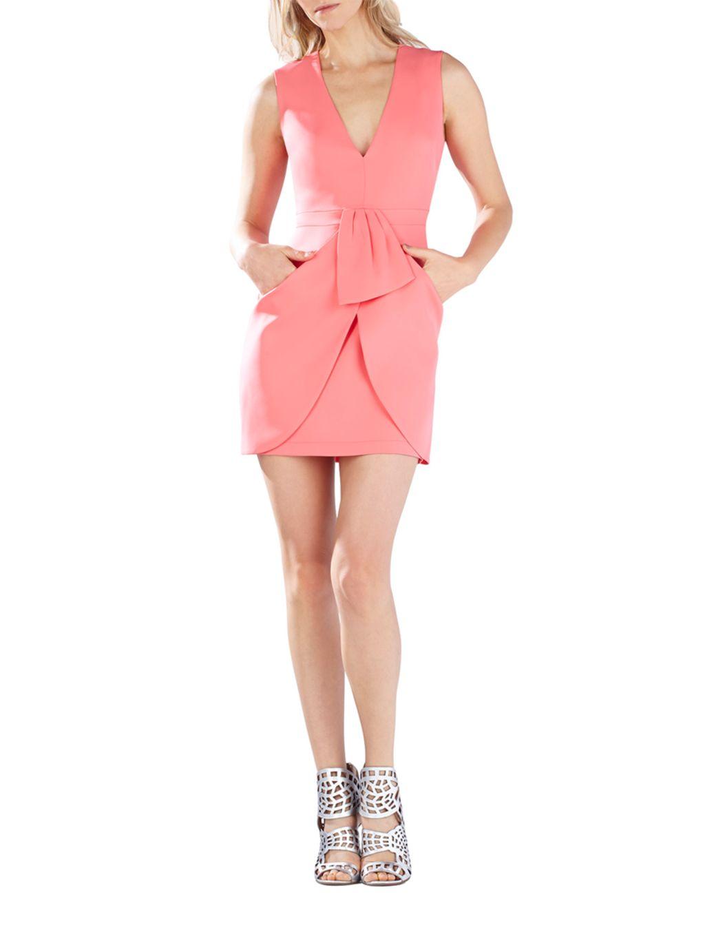 BCBGMAXAZRIA Clare Draped Mini Dress