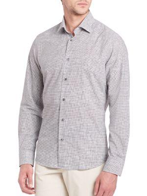 Saks Fifth Avenue  Printed Long Sleeve Shirt