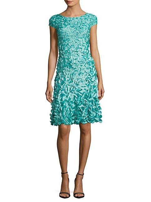 Solid Floral-Applique Dress