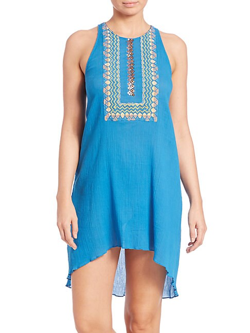Embellished Cotton Bohemian Cover-Up