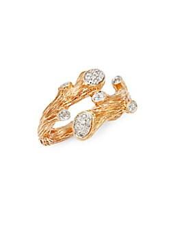 Michael Aram - Enchanted Forest 18K Rose Gold & Diamond Ring