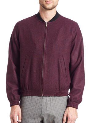 SAINTPAUL Long Sleeve Stand Collar Sweatshirt in Burgundy