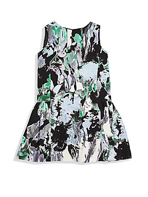 LITTLE GIRL'S FLORAL PRINTED DRESS