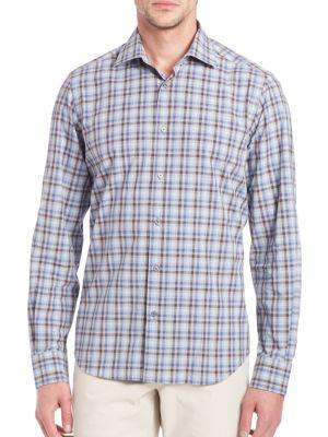 Saks Fifth Avenue  Plaid Long Sleeve Shirt