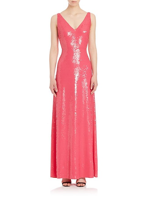 Sequin Silk Gown