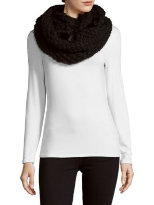 La Fiorentina Accessories Knit Fur Infinity Scarf