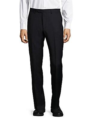 Shadow Plaid Virgin Wool Pants