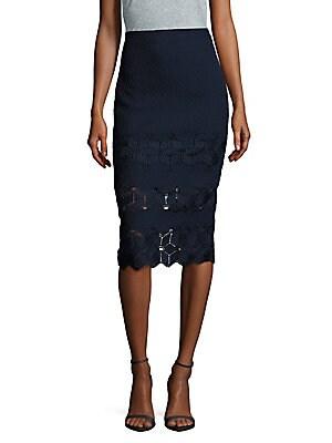 Dia Scalloped Lace Skirt
