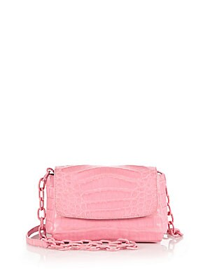 Jelly Bean Crocodile Crossbody Bag