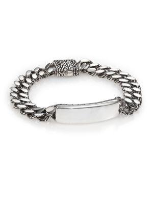 John Hardy  Classic Chain Gourmette Silver Link ID Bracelet