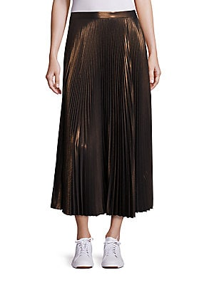 BOBBY PLEATED METALLIC SKIRT
