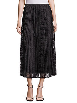 Dorothy Pleated Lace Skirt