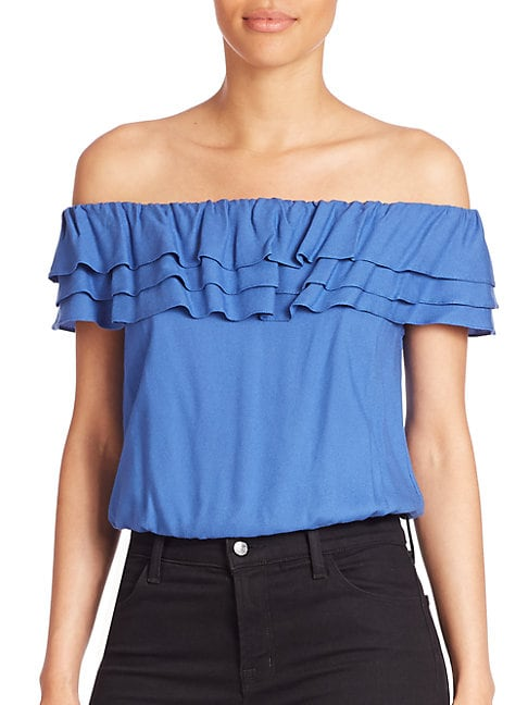 Dottie Off-The-Shoulder Ruffle Top