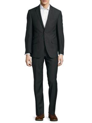 Tallia  Notch-Lapel Wool Suit
