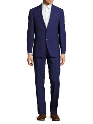 Tallia  REGULAR FIT CHECKED WOOL SUIT