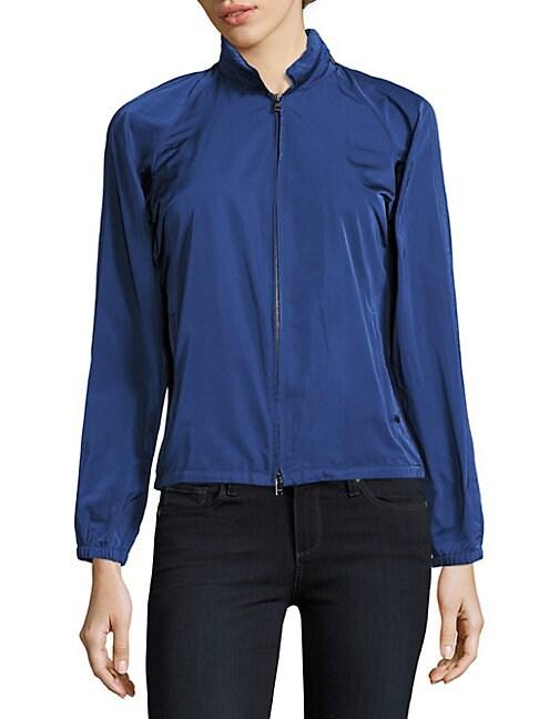 Sport Silk-Blend Zip-Front Jacket
