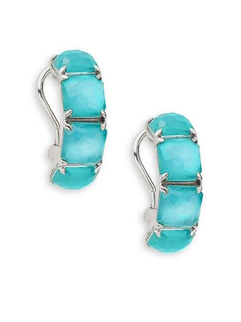 Wonderland Sterling Silver & Clear Quartz Earrings