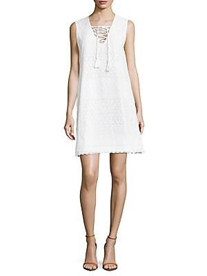 Cotton Scalloped Dress