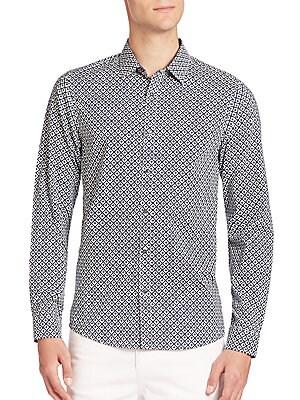 Kelvin Geometric Print Shirt