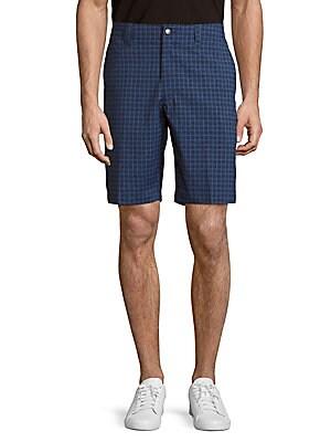 Windowpane-Check Shorts