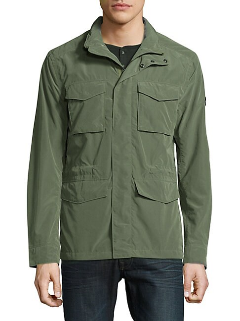 Long-Sleeve Outerwear Jacket