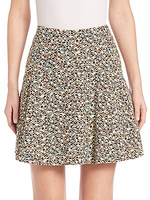 Static Tweed Flounce Skirt