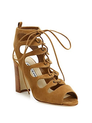 Attal Suede Lace-Up Sandals