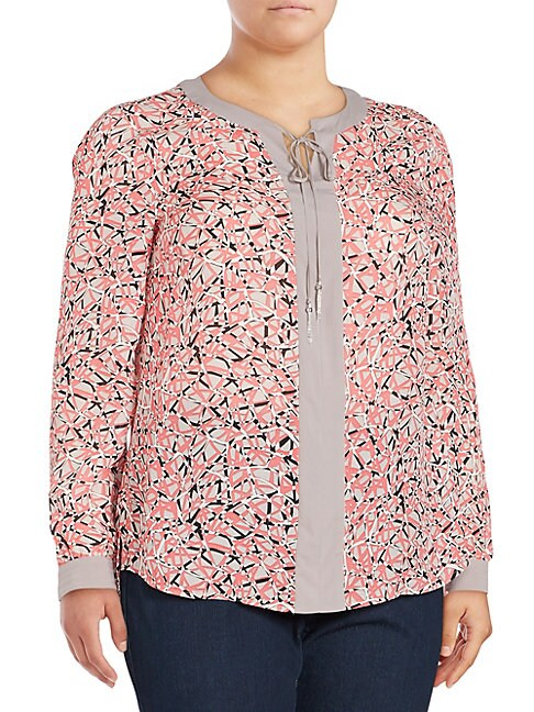 BASLER | Printed Long-Sleeve Blouse | Goxip