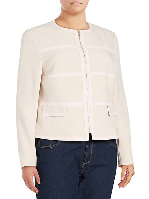 BASLER | Long-Sleeve Cropped Jacket | Goxip