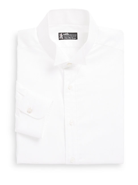 ABLA   Tonal Diamond Solid Cotton Oxford Dress Shirt   Goxip