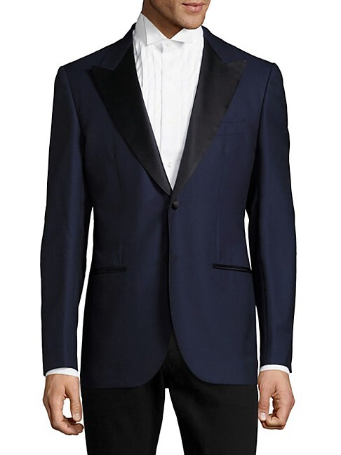 ABLA   Regular Fit Wool Blazer   Goxip
