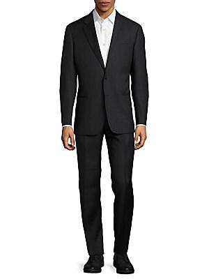 Wool Windowpane Suit