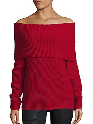 Pirjo Wool & Cashmere Off-The-Shoulder Sweater