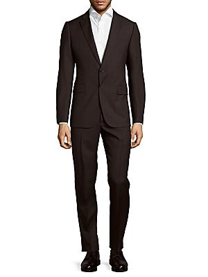 Wool Tonal Windowpane Suit