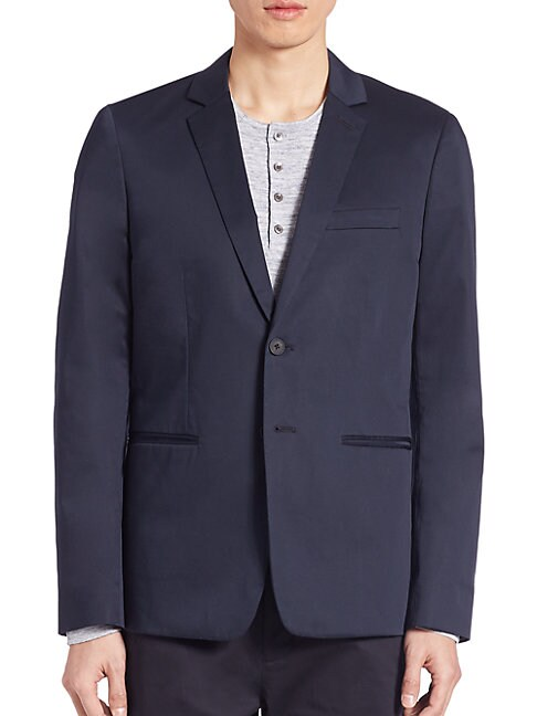 Cotton Sateen Unconstructed Jacket