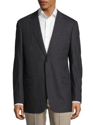 Giorgio Armani  Checkered Buttoned Jacket